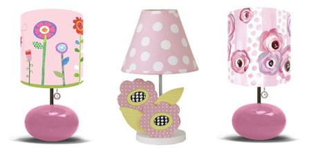Лампы с абажурами в цветочек