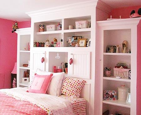 Дизайн детской комнаты для девочки в розовых тонах