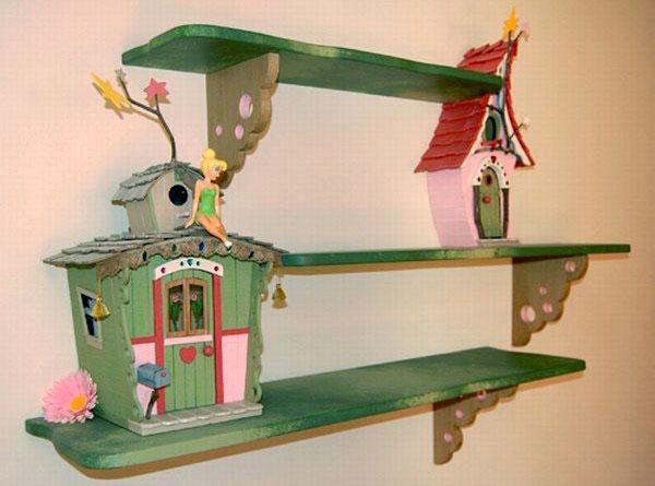 Полка с домиком феи для комнаты девочки