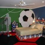 Футбольная тема в оформлении комнаты мальчика