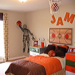 Баскетбольный дизайн детской комнаты