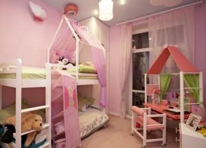 Комната для двух девочек разных возрастов