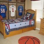 Комната для мальчика-подростка с баскетбольным оформлением