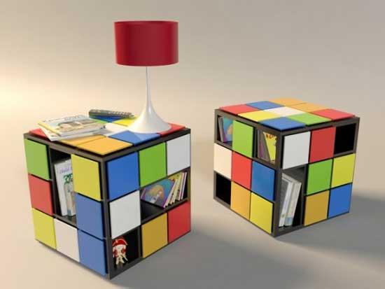 Журнальный столик в форме кубика Рубика