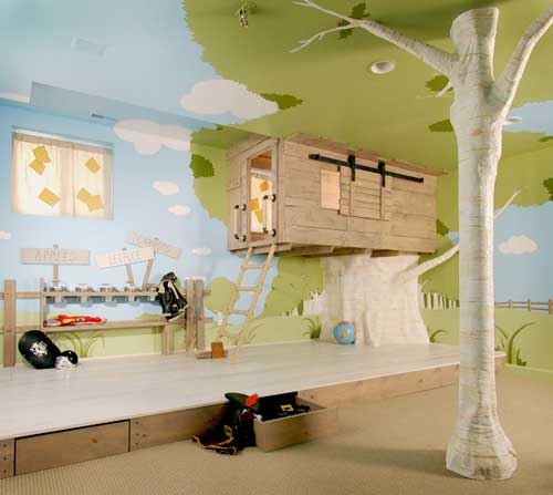 Стилизованный дизайн детской комнаты
