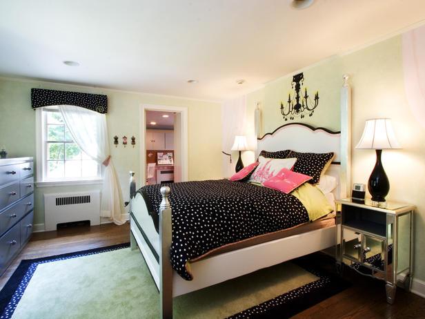 Контрастный дизайн комнаты для девочки