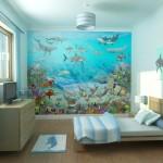 Морские фотообои в комнате ребенка