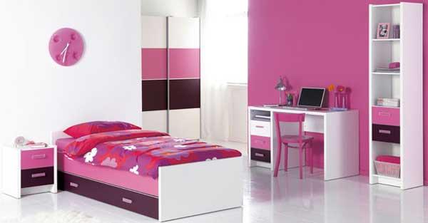 Минималистичный дизайн комнаты для девочки в розовом цвете