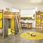 Комната для ребенка в желтых тонах в стиле сафари