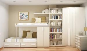 Универсальный дизайн детской комнаты для двоих