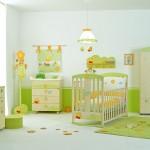 Светлая детская в зеленых тонах