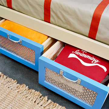 Выкатные ящики под кроватью
