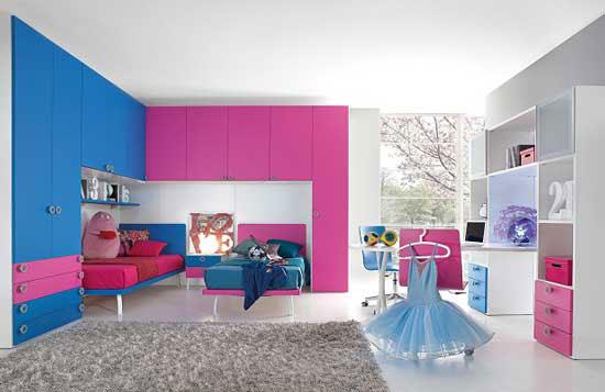 Спортивная (балетная) тема оформления комнаты для девочек