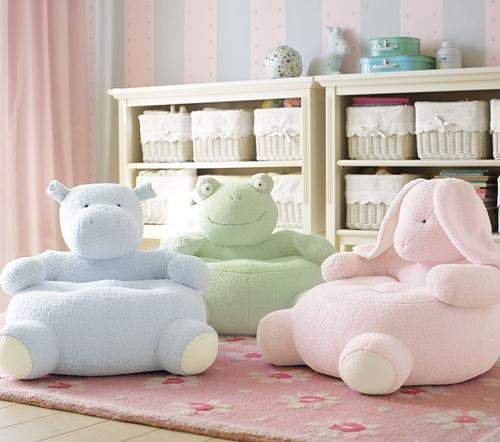 Кресла в виде бегемота, лягушки и зайца