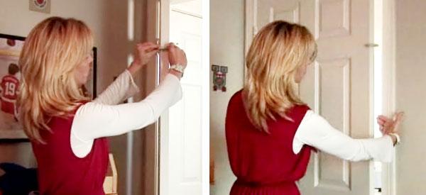 Установление стопора на дверь в детскую