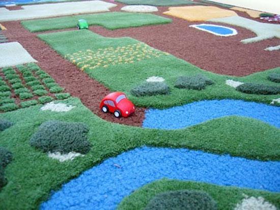 Ковер для детской: дороги для игры с машинками