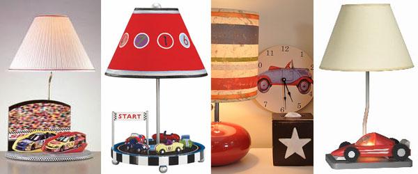 Лампы в детскую в автомобильном стиле