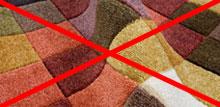 Складка на ковре - так сушить нельзя