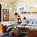 Приятный дизайн комнаты для двух мальчиков
