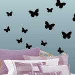 Черные бабочки в строгом и изящном дизайне
