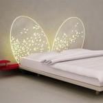 Освещение над кроватью в форме крыльев бабочки