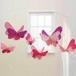 Мобиль с порхающими бабочками