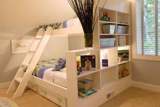 Кровать чердак и отделение спальной зоны
