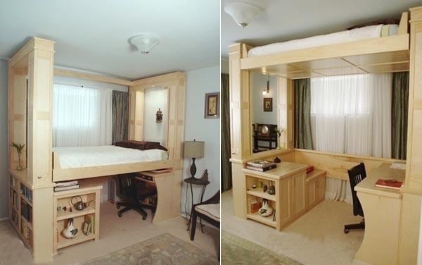 Кровать-чердак для детской в хрущевке