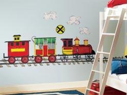 Наклейка на стену паровоз
