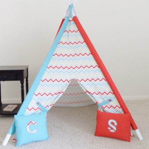 Красно-синяя игровая палатка