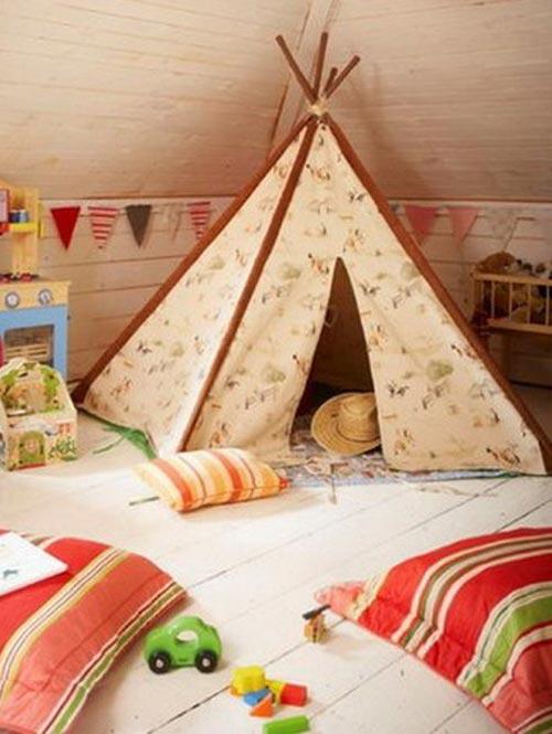 Палатка в игровой комнате