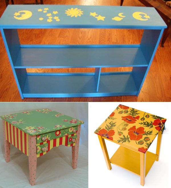 Полочки и журнальный столик для детей