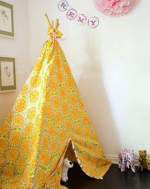 Желтая игровая палатка
