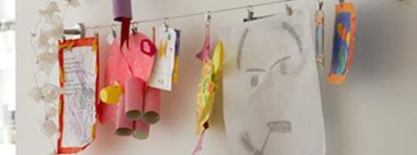 Детское творчество (рисунки, аппликации) в дизайне комнаты: Читать далее