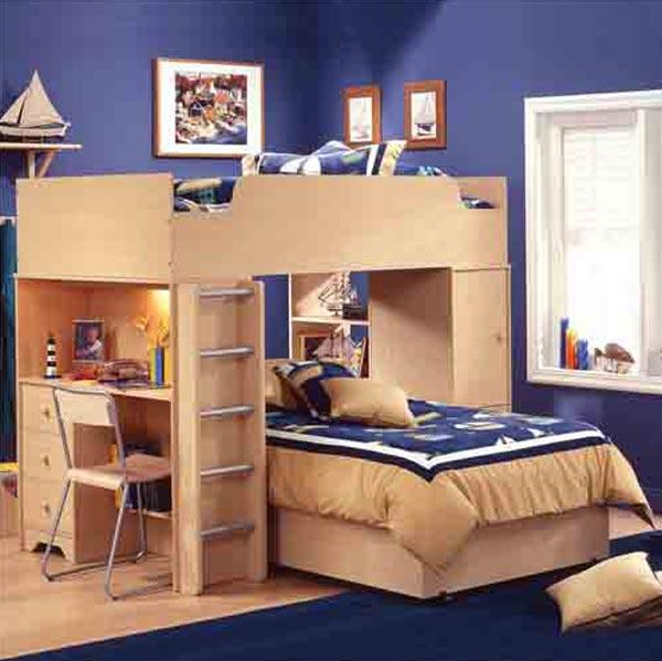 Комната для двойняшек мальчиков в морском стиле