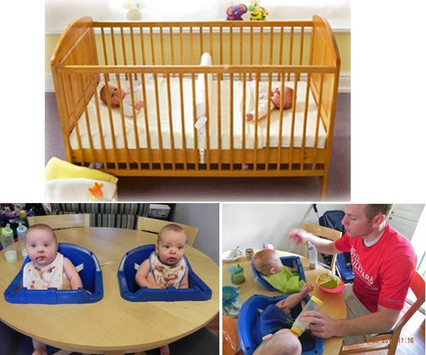 Хаки мебели для двойняшек