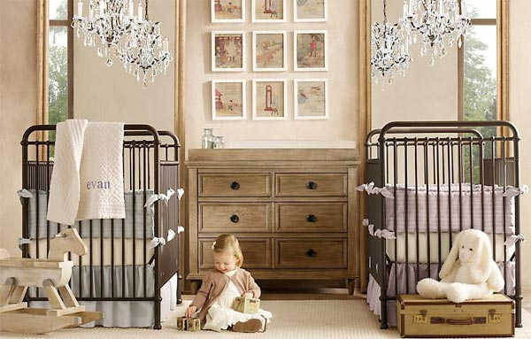 """Детская для новорожденных близнецов в цвете """"под дерево"""""""