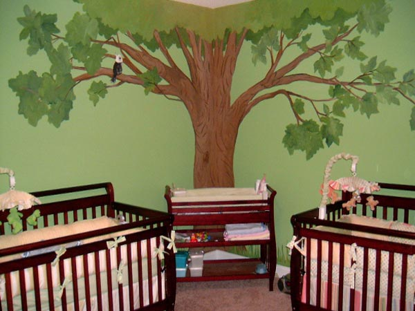 Комната для двойняшек до 2 лет