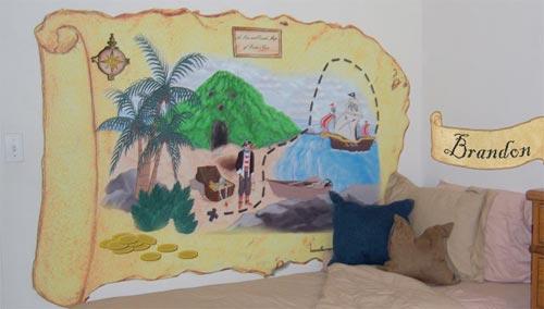 Рисунок на стене - карта