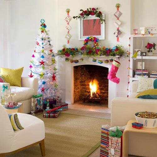 Новогоднее оформление детской комнаты