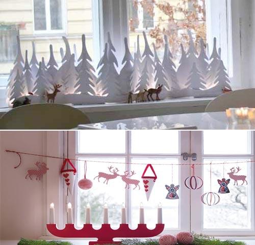 Окно в детской комнате на новый год