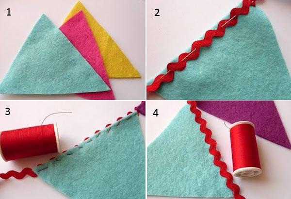 Сделать флажки гирлянда из бумаги своими руками