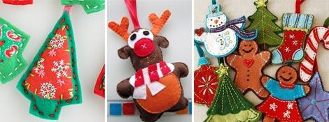 Новогодние елочные игрушки из фетра своими руками: Читать далее