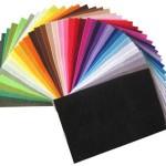 Набор разноцветного фетра можно купить через интернет