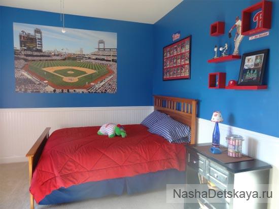 Нейтральная комната в синем цвете