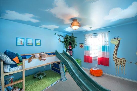 Детская комната в синем цвете