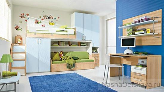 Универсальный дизайн: синий+зеленый+белый