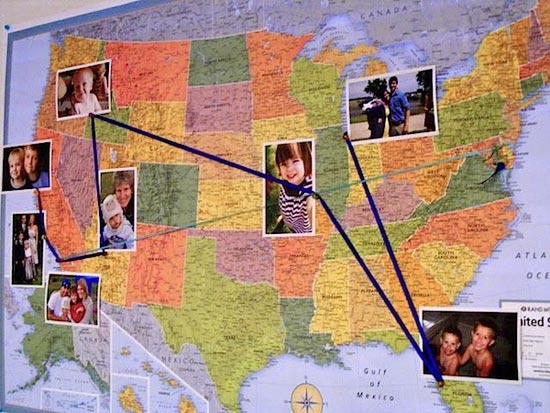 Карта с фотографиями