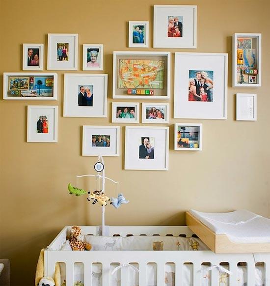 """""""Семейная стена"""" в комнате новорожденного"""