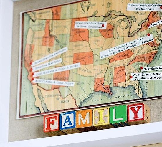 Имена на карте